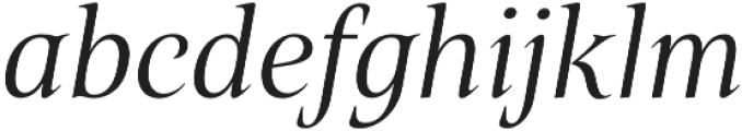Belda Norm Book Italic otf (400) Font LOWERCASE