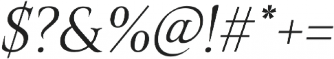 Belda Norm Light Italic otf (300) Font OTHER CHARS