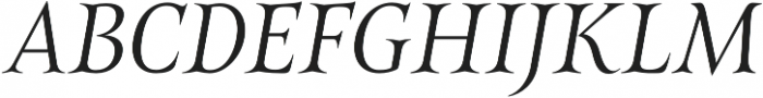 Belda Norm Light Italic otf (300) Font UPPERCASE
