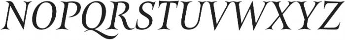 Belda Norm Regular Italic otf (400) Font UPPERCASE