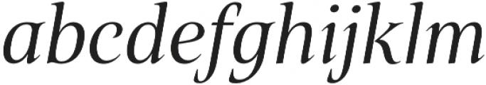 Belda Norm Regular Italic otf (400) Font LOWERCASE