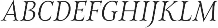 Belda Norm Thin Italic otf (100) Font UPPERCASE