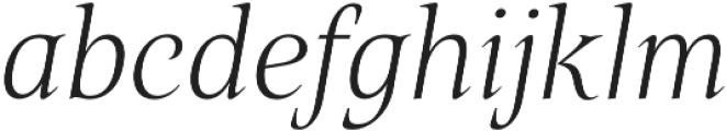 Belda Norm Thin Italic otf (100) Font LOWERCASE