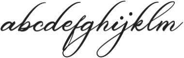 Belgiansignature otf (400) Font LOWERCASE