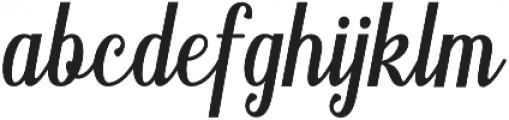 Belinda otf (400) Font LOWERCASE