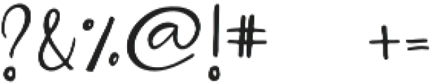 Bellahana Regular otf (400) Font OTHER CHARS