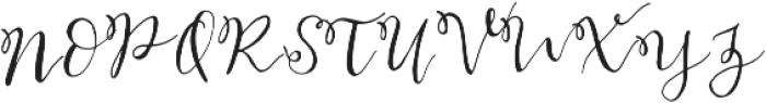 Bellahana Regular otf (400) Font UPPERCASE