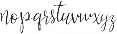 Bellahana Regular otf (400) Font LOWERCASE