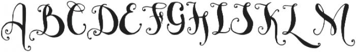 Bellanche Script Regular otf (400) Font UPPERCASE