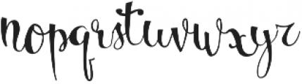 Bellanche Script Regular otf (400) Font LOWERCASE