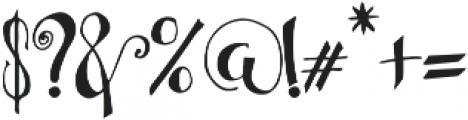Bellanche Script ttf (400) Font OTHER CHARS