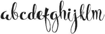 Bellanche Script ttf (400) Font LOWERCASE