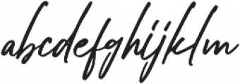 Bellarinde otf (400) Font LOWERCASE