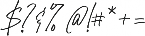 Belle Hamilton Regular otf (400) Font OTHER CHARS