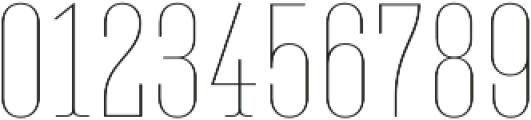 Belleville07H FY Thin otf (100) Font OTHER CHARS