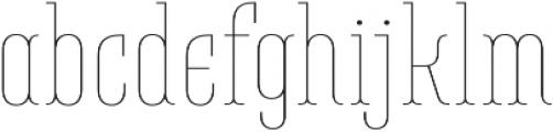 Belleville07H FY Thin otf (100) Font LOWERCASE