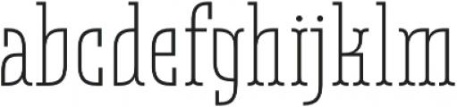 Belleville19H FY Light otf (300) Font LOWERCASE
