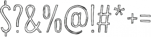 Bellfort Draw Hollow otf (100) Font OTHER CHARS