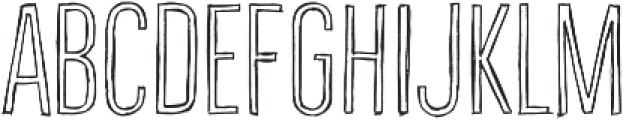Bellfort Draw Hollow otf (100) Font UPPERCASE