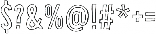 Bellfort Draw Hollow otf (400) Font OTHER CHARS