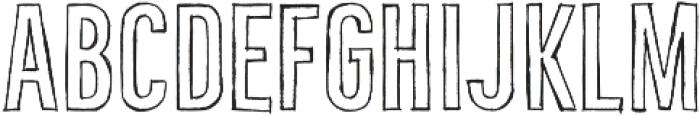 Bellfort Draw Hollow otf (400) Font UPPERCASE