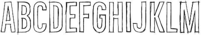 Bellfort Draw Hollow otf (400) Font LOWERCASE