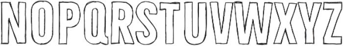 Bellfort Draw Hollow otf (700) Font UPPERCASE