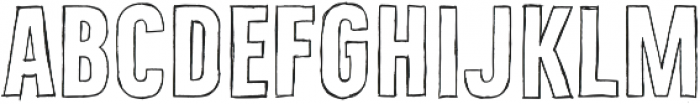 Bellfort Draw Hollow otf (700) Font LOWERCASE