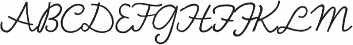 Bellfort Draw Script otf (400) Font UPPERCASE
