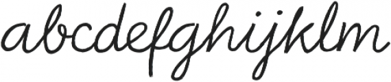 Bellfort Draw Script otf (400) Font LOWERCASE