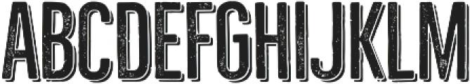 Bellfort Press Shadow otf (300) Font UPPERCASE