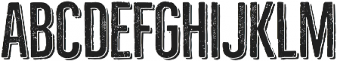 Bellfort Press Shadow otf (300) Font LOWERCASE