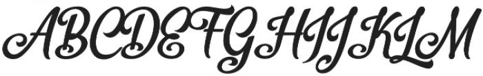 Bellico Regular otf (400) Font UPPERCASE