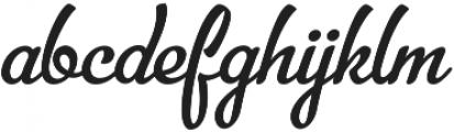 Bellico Regular otf (400) Font LOWERCASE