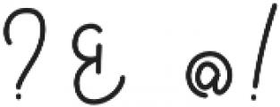 Bellinda Script otf (400) Font OTHER CHARS