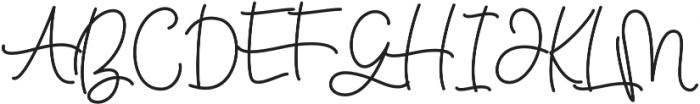 Bellinda Script otf (400) Font UPPERCASE