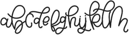 Bellinda Script otf (400) Font LOWERCASE