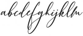 Bellindia otf (400) Font LOWERCASE