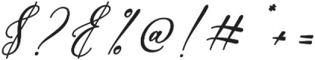 Bellisia Bold Italic otf (700) Font OTHER CHARS