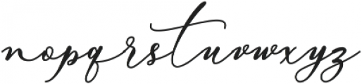 Bellisia Bold otf (700) Font LOWERCASE