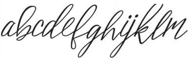 Bellonie otf (400) Font LOWERCASE