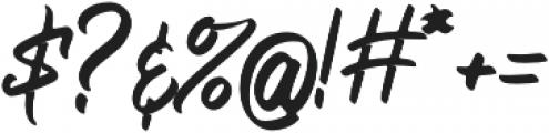 Bellsmore Brush otf (400) Font OTHER CHARS