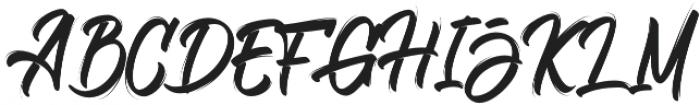 Bellsmore Brush otf (400) Font UPPERCASE