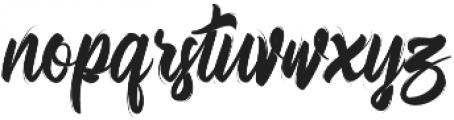 Bellsmore Brush otf (400) Font LOWERCASE