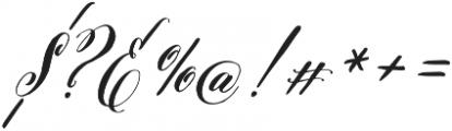 Belluccia Bold otf (700) Font OTHER CHARS