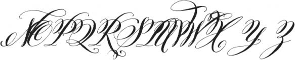 Belluccia Bold otf (700) Font UPPERCASE