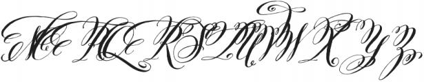 Belluccia Contextual Bold otf (700) Font UPPERCASE