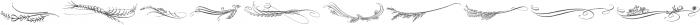 Belluccia Flourishes Regular otf (400) Font OTHER CHARS
