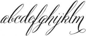 Belluccia Pro Regular otf (400) Font LOWERCASE