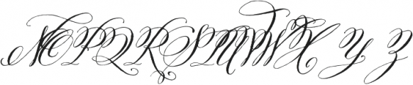Belluccia Regular otf (400) Font UPPERCASE